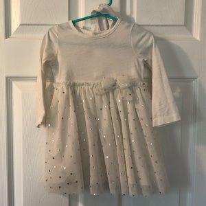 White long sleeve Carter's dress. GUC